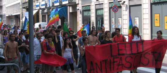 primo corteo della Rete Antifascista Lecchese, Domenica 29 Giugno 2008, Lecco