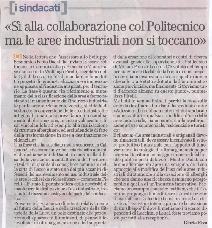 La Provincia di Lecco - 4 novembre 2010