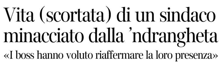 Il titolo del Corriere della Sera dell'11 novembre 2012