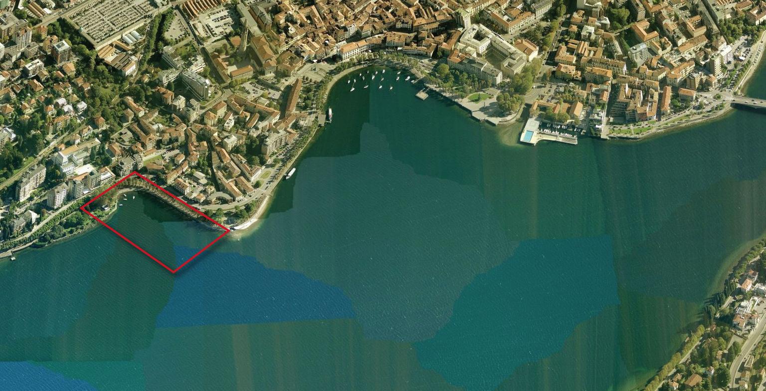 """La zona dov'è previsto il """"Porto di San Nicolò"""""""
